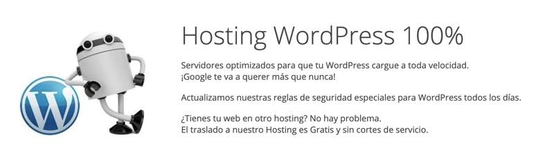 Hospedaje web WordPress para Webempresa