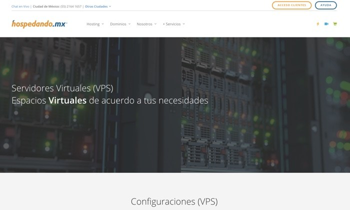 Servidor virtual de México